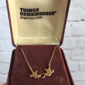 Vintage Jewelry - Vintage Gold Dove Necklace